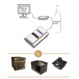 Coude 90° avec manchon Ø160 mm - IP-B 160/90 - IN25 WineMaster