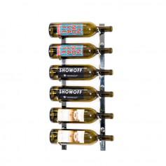Porte-bouteilles mural en métal noir satiné 3 à 9 bouteilles - VintageView Series 1